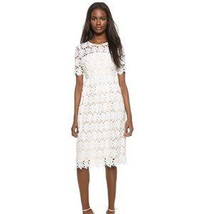 Little white lies Tagan midi white lace dress NWT